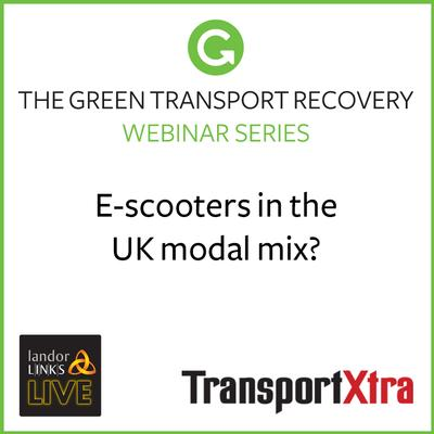 E-scooters in the UK modal mix