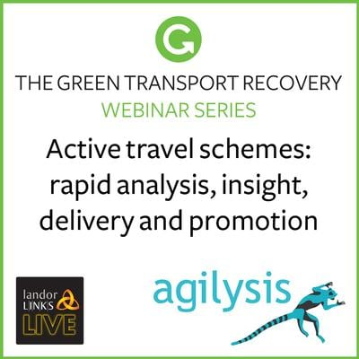 Active travel schemes: rapid analysis, insight, delivery and promotion