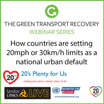 How countries are setting 20mph or 30km/h limits as a national urban default