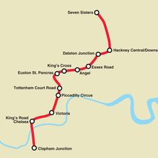 Crossrail 2 route Option A – automatic metro