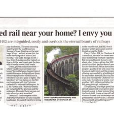 Times columnist Alice Thomson was very much of the opinion that the proposed HS2 high-speed line would be a boon to the British countryside, not a blight on it