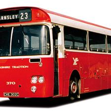 A classic bus design from the 1960s, the BET Group standard single-decker. It was  extremely clean, elegant, modern and stylish in its day.