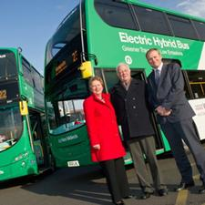 Two new National Express West Midlands electric hybrid buses were delivered just before Christmas.