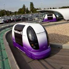 The car park shuttle pod system at Heathrow