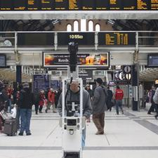 13 major UK rail stations can so far be studied online using the Google Street View service