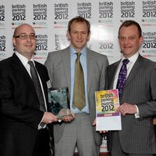Alexander Armstrong with Barry Francis and Keith Townsend of Ealing Council