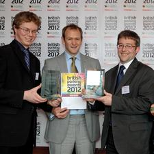 John Hammersley and Fraser Brown of Ultra Global PRT with Alexander Armstrong
