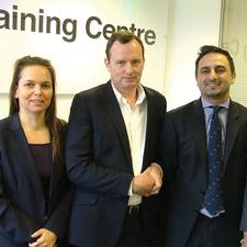 APCOA enforcement manager Tracey Munford, Hackney parking services manager Seamus Adams and APCOA contract manager Kaleem Jaffery