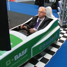 At one point Parkex 2012 started to resemble the starting grid at a Formula One race, with companies such as BASF, Chandlers and Premier Parking offering delegates the chance to unleash their inner Jenson Buttons and Lewis Hamiltons