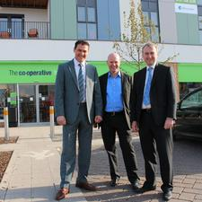 Gallan Parking's managing director Phillip Grant (left) with Andy Brown, 