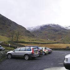 The car park at Haweswater