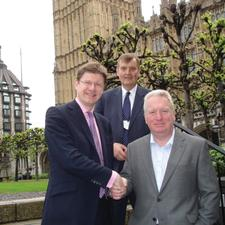 Left to right: Greg Clark, Paul Carter and Mike Penning, met this week to discuss the A21