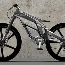 Audi's new electric bike can, the company says, achieve speeds of up to 50mph