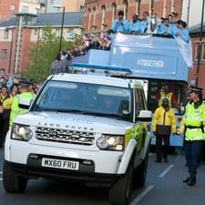 The Man City victory parade