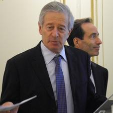 From left to right: Michel Bleitrach, CEO of Keolis and its director of International Department, Bernard Tabary.
