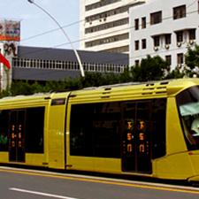 A Translohr tram in China