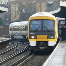 Southeastern Train arriving at Greenwich Station © Chris McKenna