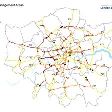 Lane rental charges will only apply within Congestion Management Areas, which cover 57% – about 330km –  of the Transport for London Road Network