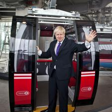 Mayor Johnson has just opened the new cross Thames cable car - for further pictures see centre spread.