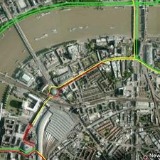 Delays on the South Bank between Waterloo and London Bridge increased