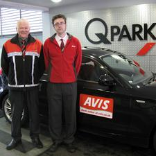 Martin Johns, Q-Park Leeds, (left) and David Costello, Avis manager, Leeds