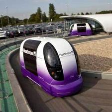 The Heathrow driverless parking shuttle pods