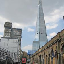 St Thomas Street on the south side of the station: there remains uncertainty about its future function. The Shard rises above
