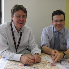 Alex Machin, Network Rail (left) and Graham James, Parsons Brinckerhoff (right)