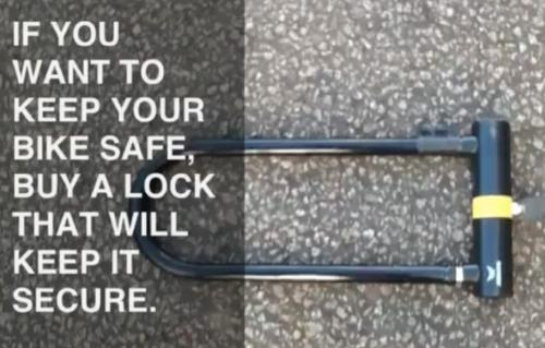 Police give cyclists D-type locks