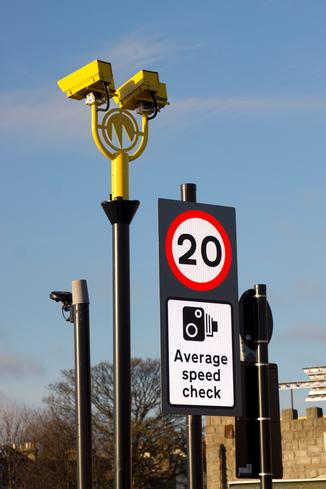 Average speed scheme makes shared space safer