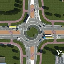 How a turbo-roundabout could look in the UK