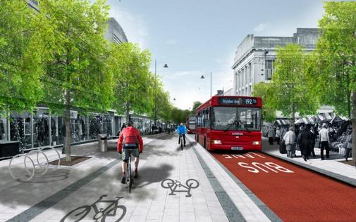 The proposed new cycle route on Enfield`s Church Street