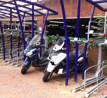Motorcycles at St Albans station