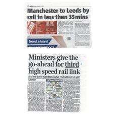 Mixed reaction to 'Northern Powerhouse' high-speed rail plan