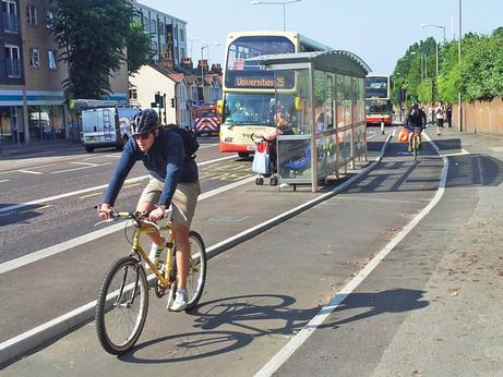 Island bus stops on Lewes Road have helped reduce conflict between buses and cyclists, says Ian Davey