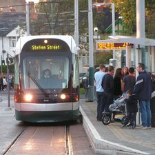The Conservatives want to review plans to extend the Nottingham tram system