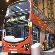 Wrightbus displayed a hybrid version of its new Gemini 2 double deck model which is destined to enter service with First's London operations