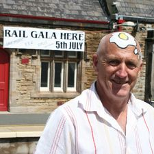 Stations should be places for community celebrations, says Salveson. Burscough Bridge held a station gala in July, where one man decorated himself suitably for the occasion