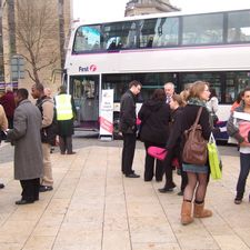 Passengers seemed to grasp the problems of bus operators at the surgery