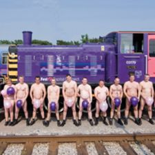 CSR reports contain numerous examples of small scale charity work. Train operator First Capital Connect had a great Christmas Card to raise money, 'Drivers in the Buff'. Do you recognise anyone?