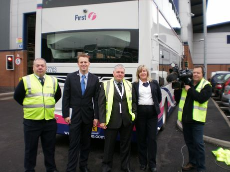 First bus drivers  boost Skills for Life on GMTV