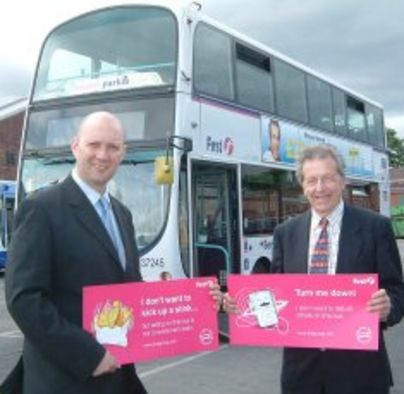 First launches respect campaign on buses