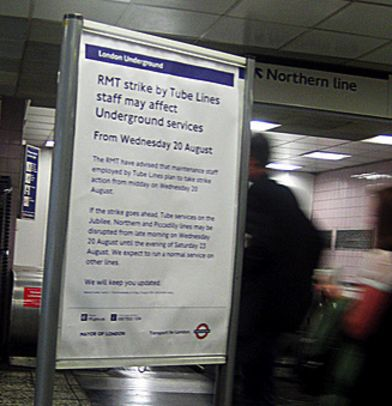 Breakdown' in Tube strike talks