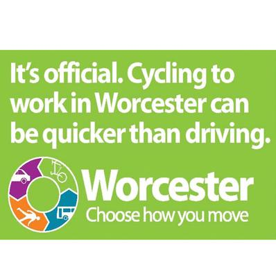What lessons have been learned from Worcester's sustainable travel town project?