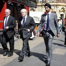 Kulveer Ranger (right) with his boss, London mayor Boris Johnson