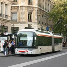 A Cristalis trolleybus in Lyon, a city which recognises that investment in good public transport is a necessity