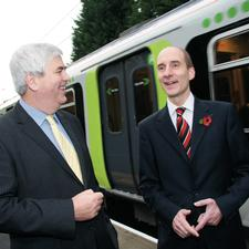 Hertfordshire leader Robert Gordon (left) with Lord Adonis