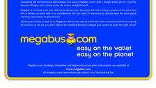 A newspaper advert for Megabus