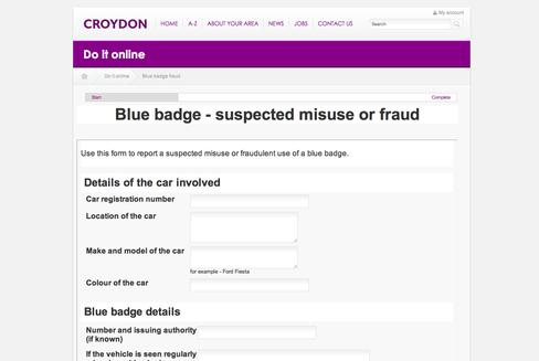 Croydon makes it easier to report Blue Badge fraud online