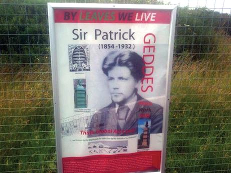 Newcraighall station on the newly re-opened Borders Railway pays tribute to Patrick Geddes